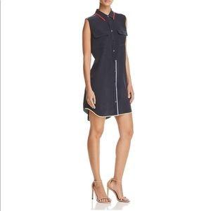 Equipment Femme Casual Silk Navy Dress Size M